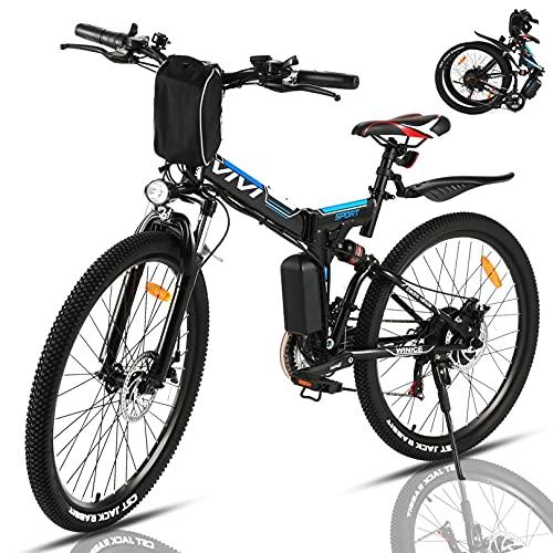 VIVI 350W Elektrofahrrad Herren 26 Zoll Faltbares E Bike Mountainbike, Elektrofahrrad Klappbar Abnehmbare...