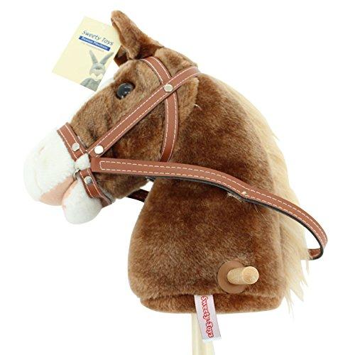 Steckenpferd ,Farbe braun mit heller Mähne und Funktion.Ohr drücken und Pferde Galopp und...