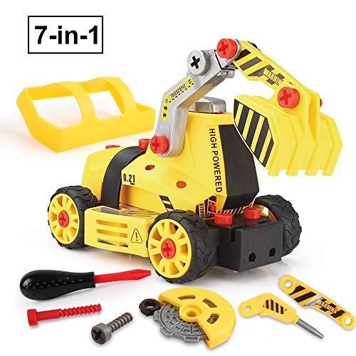 BeebeeRun Montage Spielzeug Auto LKW,Kinder Spielzeug ab 3,Spielzeug 4 Jahre Junge,Lastwagen Autos,7 in...