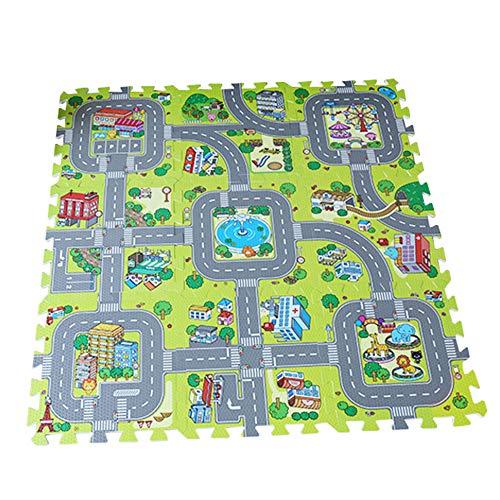 Staright Verkehr Spielmatte Puzzle Schaum Interlocking Fliesen Kinder Straße Verkehr Spielteppich Kinder...