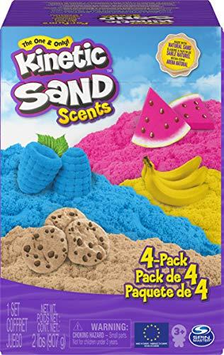 Kinetic Sand Duftsand 4er-Pack, 907g für kreatives Indoor-Sandspiel