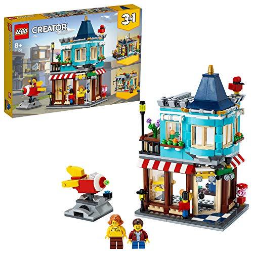 LEGO 31105 Creator 3-in-1 Spielzeugladen im Stadthaus, Stadthaus Spielzeugladen - Konditorei -...