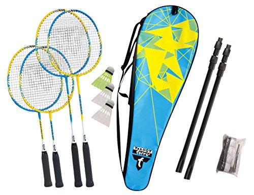Talbot Torro Unisex Talbot-torro Badminton-set Family, 2 Juniorschläger 53cm, Standardschläger, 3...