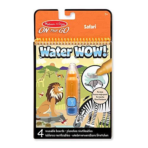 Melissa & Doug Water Wow Malblock - Malen mit Wasser - Safari (4 Seiten)