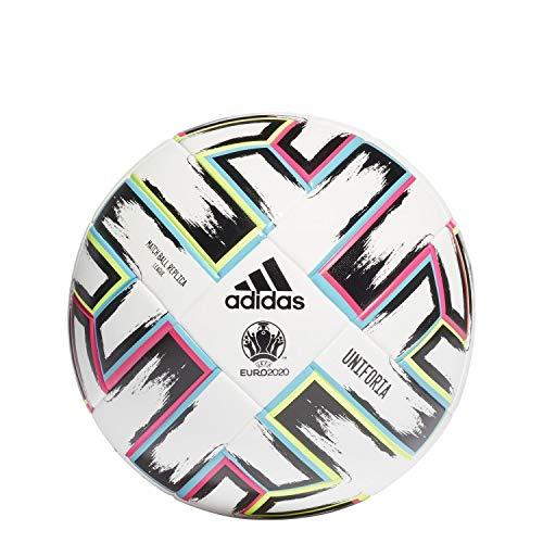 adidas Unisex– Erwachsene UNIFORIA League Box Fußball, Weiß/Schwarz/Grün Signal/Hell Cyan, 5