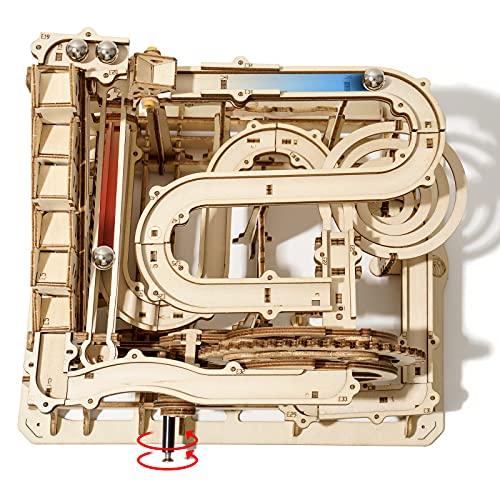 Robotime Murmelbahn Holz 3D Puzzle Erwachsene Kugelbahn Spiel Perpetuum Mobile Mechanische Technik...
