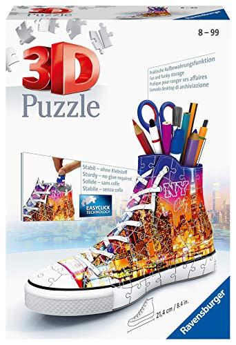 Ravensburger 3D Puzzle 11152 Sneaker Skyline - Praktischer Stiftehalter - 108 Teile -...