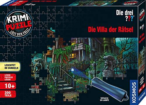 KOSMOS 697976 - Krimi Puzzle: Die drei ??? - Die Villa der Rätsel, Leuchtet im Dunkeln, 300 Teile mit...