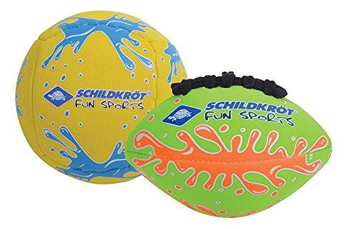 Schildkröt Mini-Ball-Duo Pack, Set bestehend aus 1 Volley und 1 American Football, Ø 9 cm, griffig und...