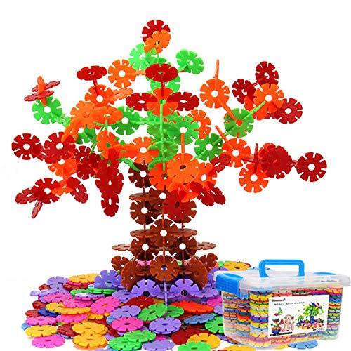 Genossen Kinder Spielzeug, Lernspielzeug Bausteine, Schneeflocken Set, Interlocking Ungiftig Kunststoff...