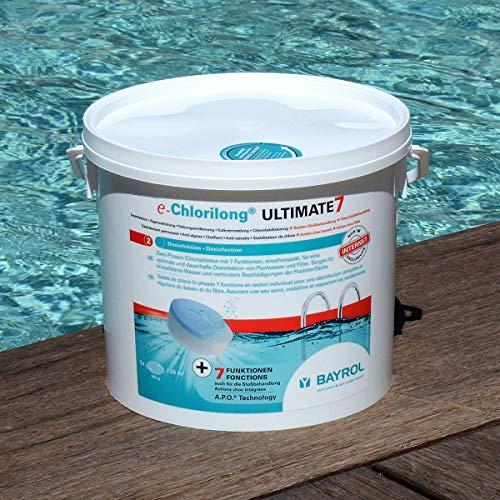 BAYROL e-Chlorilong ULTIMATE 7 – Zwei Phasen Chlortabletten 300 g mit 7 Funktionen für eine optimale...