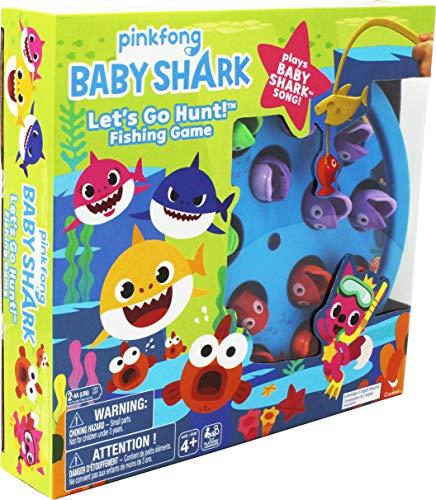 Spin Master Games 6054916 Pinkfong Baby Shark Let's Go Hunt-Angelspiel – spielt den Baby Shark-Song