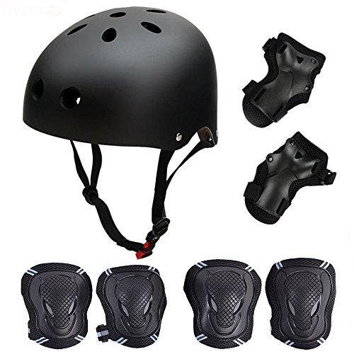 Skateboard/Skate Protection Set mit Helm – symbollife Helm mit 6 Ellbogen Knie Handgelenk Pads für...