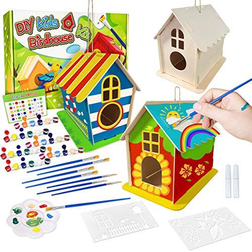 DIY Vogelhaus Bausatz für Kinder, Spielzeug Geschenke für Alter 3 4 5 6 7+ Jahre alt Jungen Mädchen, 3...