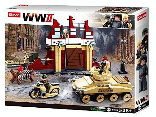 Sluban SL95567, WWII - Kampf um Stalingrad [M38-B0696], Spielset , Klemmbausteine, Soldaten, mit...