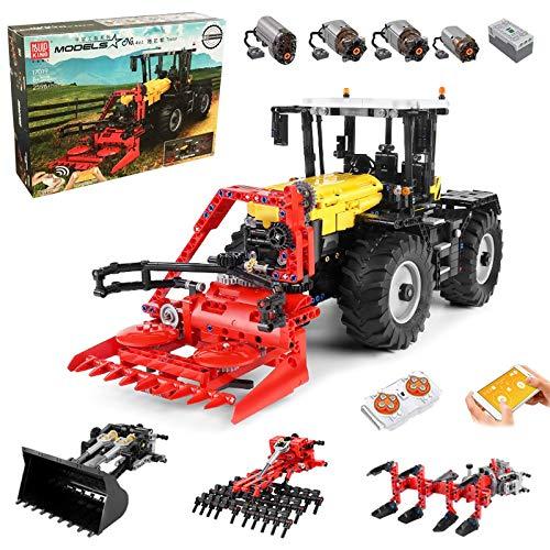 Technik Traktor Technic Ferngesteuert Traktor, Mould King 17019, 2596 Teile, mit 4 Motor, 4-in-1 Traktor...