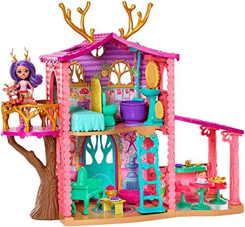 Enchantimals GWG90 - Reh Spielset mit Puppenhaus inkl. Danessa Deer Puppe, Haus ca. 60 cm und Puppe ca....