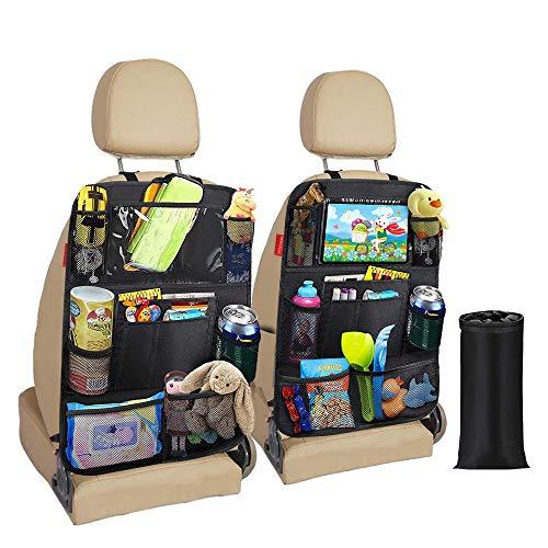 Awroutdoor Auto Rückenlehnenschutz, 2 Stück Wasserdicht Auto Rücksitz Organizer für...