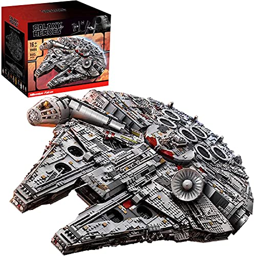 Technic Star Wars Millennium Falcon Falcon Starship Model Mit Displayständer,8445 Teile großes...
