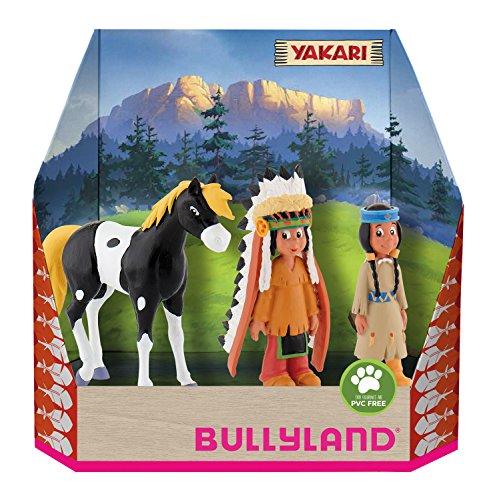 Bullyland 43309 - Spielfigurenset, Yakari in Geschenk Box, 3 teilig, liebevoll handbemalte Figuren,...