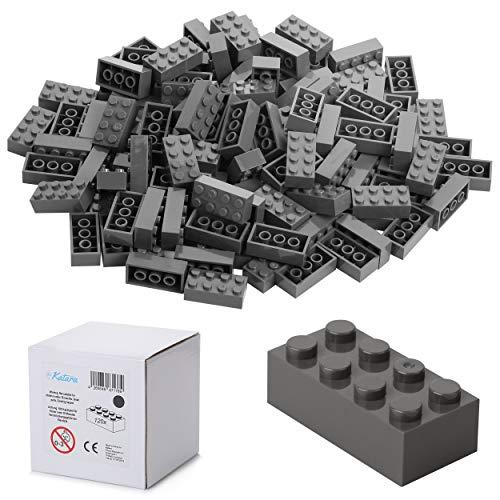 120 Bausteine 4x2, Kompatibel Zu Allen Anderen Herstellern, In Vielen Farben Erhältlich - Dunkel-Grau