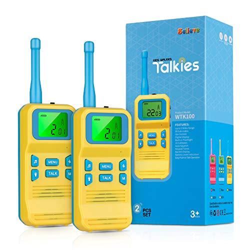 Selieve Spielzeug ab 3-8 Jahren Junge, Kinder Walkie Talkie Funkgerät mit 3KM Reichweite 8 Kanal...