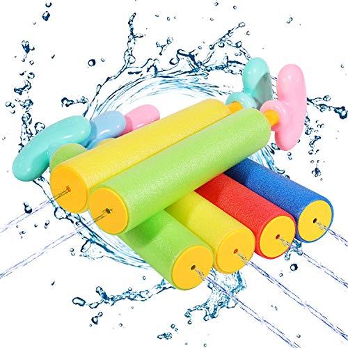 Auney Wasserspritzpistole für Kinder, 6er-Pack Wasserpistolen Water Gun Spielzeug Blaster Set für...