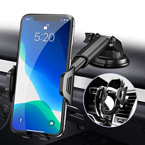 RAXFLY Handyhalterung-Auto-Lüftung, 3 in 1 Handyhalter Auto Handyhalterung Saugnapf, 360° KFZ Handy...