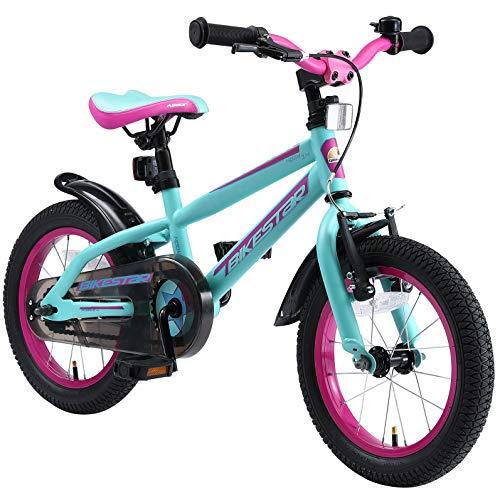 BIKESTAR Kinderfahrrad 14 Zoll für Mädchen und Jungen ab 4 Jahre | Kinderrad Urban Jungle | Fahrrad...