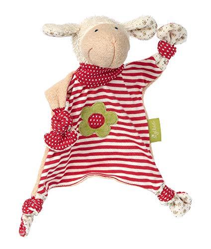 SIGIKID 40862 Schnuffeltuch Schaf Green Mädchen Babyspielzeug empfohlen ab Geburt rot
