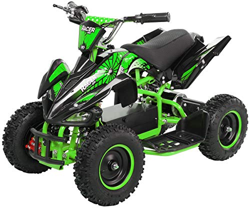 Actionbikes Motors Kinder Elektro Miniquad ATV Racer 1000 Watt 36 Volt - Scheibenbremsen - Safety Touch...