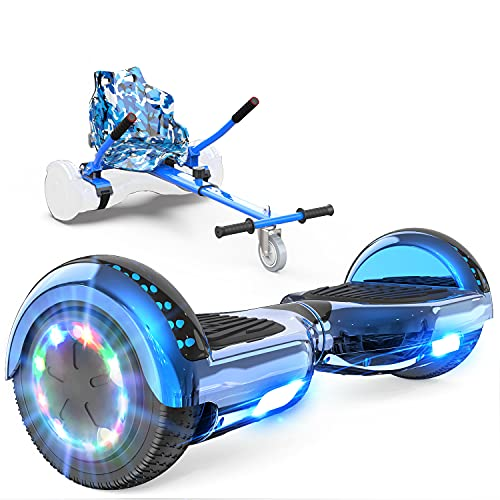 GeekMe Hoverboards mit Sitz,Elektroroller Hoverkart, Elektro Scooter Go-Kart mit Bluetooth-Lautsprecher...