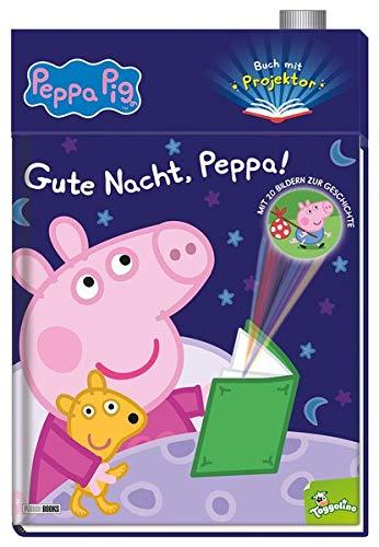 Peppa Pig: Gute Nacht, Peppa!: Buch mit Projektor