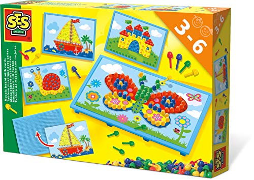 SES Creative 14898 14898-Mosaikbrett mit Vorlagen