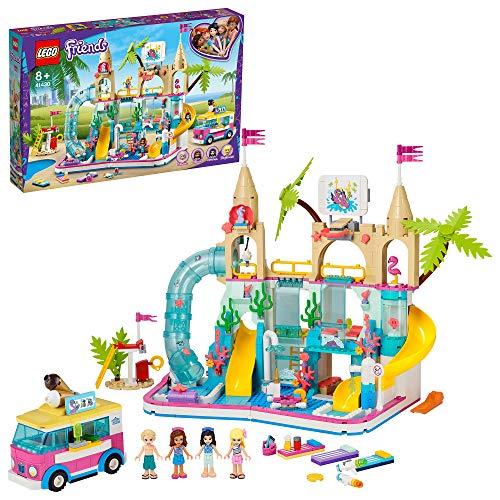 LEGO 41430 Friends Wasserpark von Heartlake City Set Spielzeug ab 8 Jahren mit Mini Puppen Emma & Olivia,...