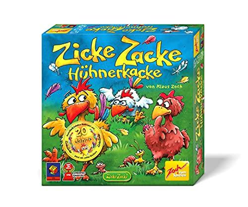 Zoch 601121800 Zicke Zacke Hühnerkacke – das rasante Memory-Gedächtnisrennen, Kinderspiel des Jahres...