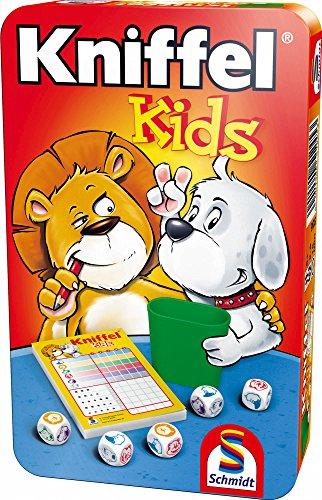Schmidt Spiele 51245 BMM Kniffel Kids, Bring Mich mit Spiel in der Metalldose, bunt