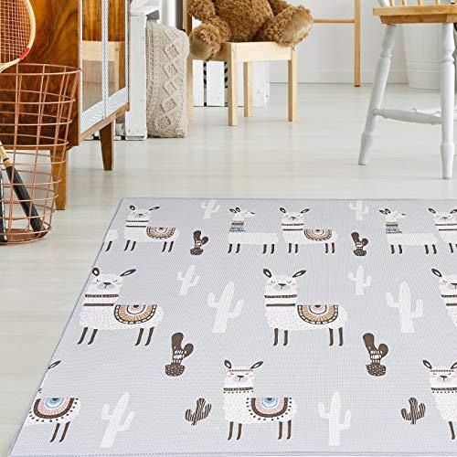 Baby Vivo Premium Wende-Spielteppich Alpaka   Kinderspielteppich Spielmatte Spieleteppich Krabbelmatte...