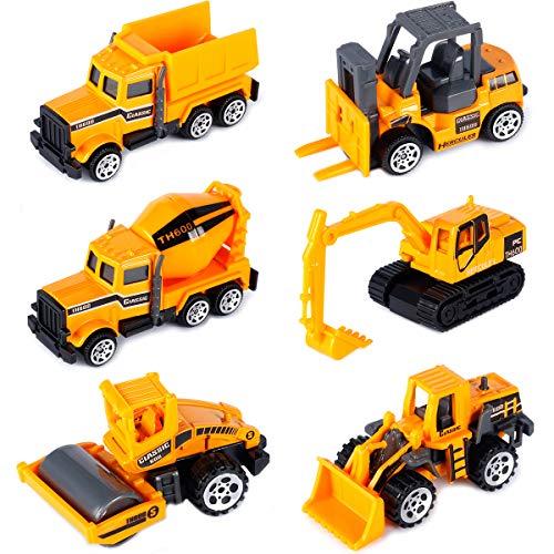 Dreamon Mini Legierung Bagger Lastwagen Autos Set Fahrzeugset Kleinkind Baustelle Spielzeug ab 3 Jahren...