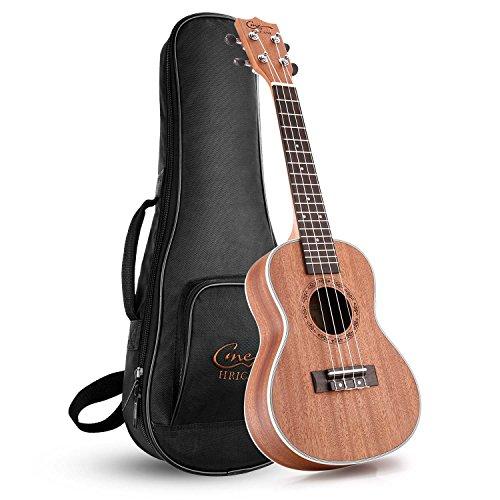 Hricane Ukulelen, Konzert 23 Zoll Professional Hawaii Kleine Gitarrenpackung mit Tasche