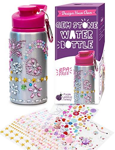 Purple Ladybug Dekoriere Deine Wasserflasche für Mädchen mit strassbesetzten Edelsteinaufklebern - BPA...