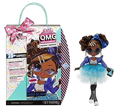 L.O.L. Surprise! 576365EUC LOL OMG Present Surprise Mode-Puppe Miss Glam-Sammlerpuppe-20 Überraschungen...