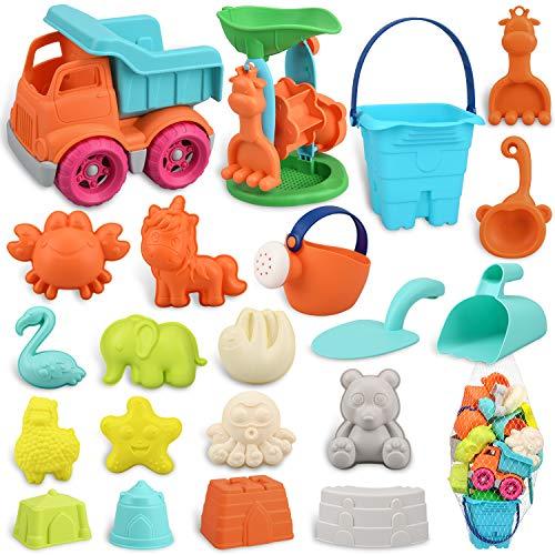 balnore Sandspielzeug für Kinder Junge Mädchen, 22 Stück Strandspielzeug Set in wiederverwendbarer...