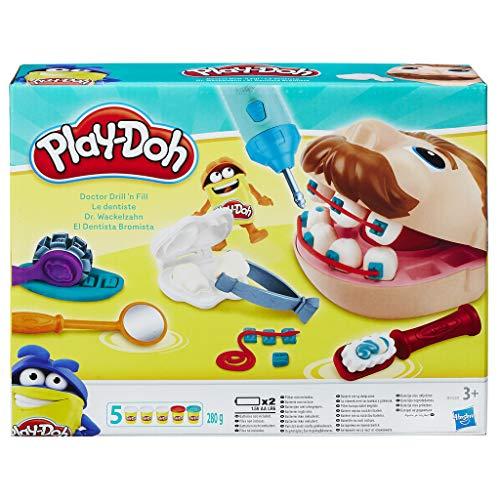 Play-Doh B5520EU50 B5520EU4 - Dr. Wackelzahn Knete, für fantasievolles und kreatives Spielen