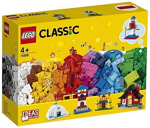 Lego 11008 Classic Bausteine - Bunte Häuser Bauset, Spielzeug für Kleinkinder ab 4 Jahren, mit 6...