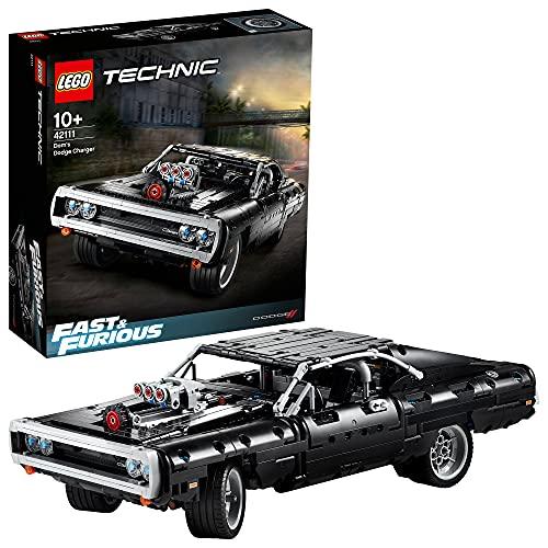 LEGO 42111 Technic Fast & Furious Dom's Dodge Charger Rennwagen Modell, ikonisches Bauset für Sammler