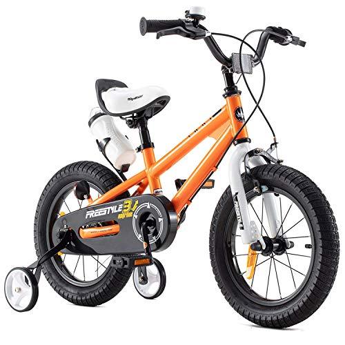 RoyalBaby Kinderfahrrad Jungen Mädchen Freestyle BMX Fahrrad Stützräder Laufrad Kinder Fahrrad 16 Zoll...