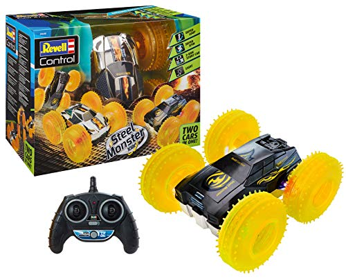 Revell Control 24640 RC Stunt Car Steel Monster 1080, 2.4GHz, Akku, 4WD Allrad, LED-Beleuchtung...