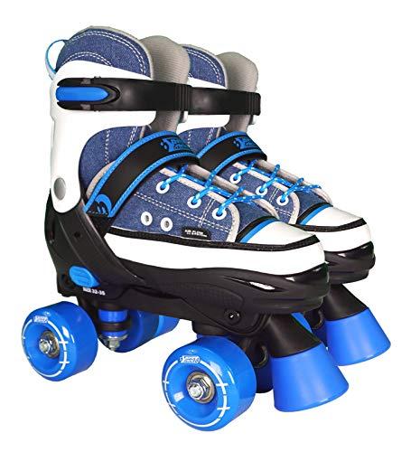 Best Sporting Rollschuhe für Kinder ab 5 Jahren, Größe verstellbar, ABEC 7 Carbon, Farbe: blau/weiß,...