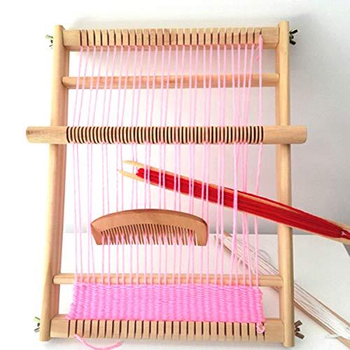 Kitchnexus DIY Holz Webrahmen Set Strickstuhl Handarbeits Holzspielzeug Idea für Anfänger, Profis,...